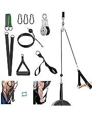 FASPUP Onderarmtrainer, flessentakel fitness lattrekarm krachttraining kabel DIY fitness riemschijf kabelmachine voor home gym workout triceps-pull-down