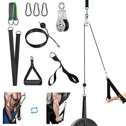 Poleas Gimnasio para Casa, Máquina del Sistema Polea de Tríceps Accesorio de Entrenamiento para Antebrazo, Curl de Bíceps, Entrenamiento Fitness Gimnasio
