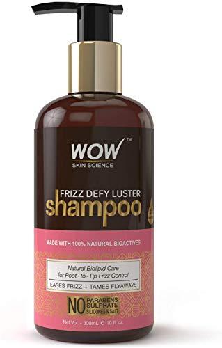 Glamorous Hub WOW Frizz Defy Lustre sin parabenos, champú de silicona y sulfato de 300 ml (el empaque puede variar)