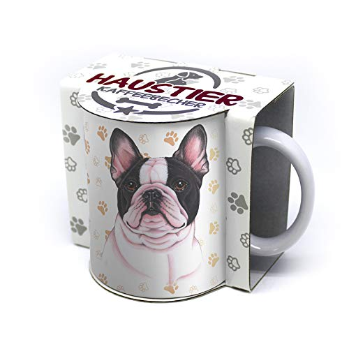 "Taza con diseño de Bulldog francés con texto en inglés ""For Dich/Divertido Texto/Taza de Navidad/Personalizada/Taza de café grande"