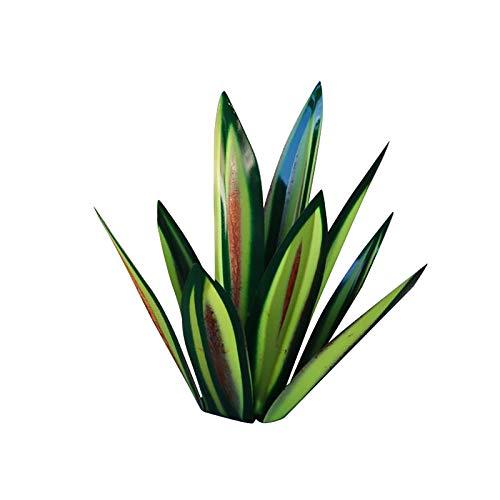 Figura de jardín con estatua de Tequila, escultura rústica de metal, decoración de interiores, decoración de jardín, estacas de patio, césped, plantas de ágata de metal (2 seguimiento, verde)