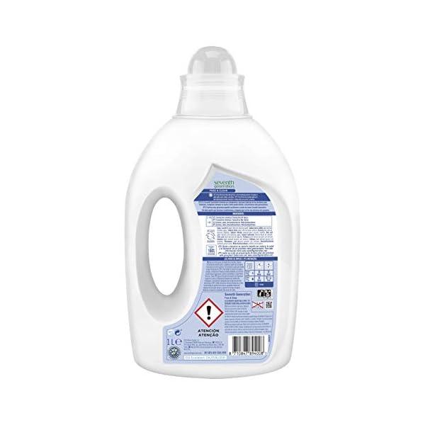 Seventh Generation Fresh Orange & Blossom – Detergente para Ropa, 0% colorantes, fragancias sintéticas y blanqueadores…