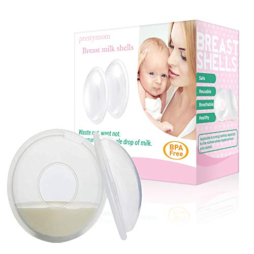 2Pcs Breast Milk Saver Shell Nursing Cups Sore Nipples Protection for Breastfeeding Pad Soft Silicone Flexible Reusable