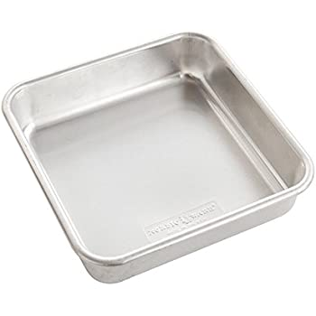 "Nordic Ware Naturals Aluminum Commercial 8"" x 8"" Square Cake Pan, 8 by 8 inches, Silver"