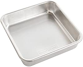 """Nordic Ware 47500 Naturals Aluminum Commercial 8"""" x 8"""" Square Cake Pan, Silver"""
