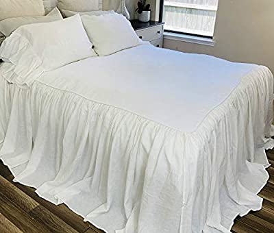 White Bedspreads handmade in natural linen, White Bed Covers, White Bedding, White Bedspread, Linen Coverlet, Shabby Chic Bedding, Luxury Bedding, Queen Bedspread, King Bedspread, Twin Bedspread