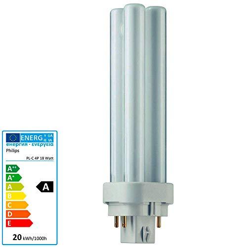 10x Philips MASTER PL-C 18W/840 G24q-2 (4-pins) | Kaltweiß - 4-Stift Energiesparlampe 143mm