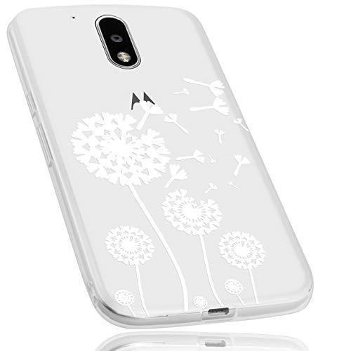 mumbi Hülle kompatibel mit Lenovo Moto G4 / G4 Plus Handy Hülle Handyhülle dünn mit Motiv Pusteblume, transparent