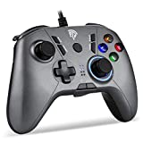 【2020最新版】EasySMX PCゲームパッド パソコンゲーミングコントローラー Windows/ PS3/ Android/TV Boxに対応可能(シルバー)