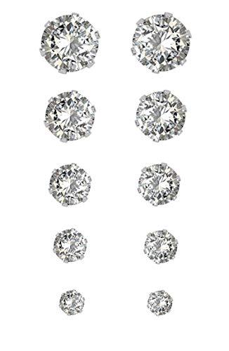 Ana Morales - Set di orecchini placcati in argento, senza nichel, da donna