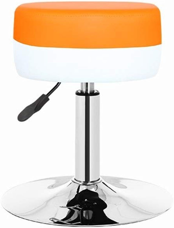 Factory Stool, Store, Etc. Supermarket Stool Rest Stool Hotel Stool Cashier Stool Lifting Stool Multifunctional Chair (color   orange, Size   50-62CM)