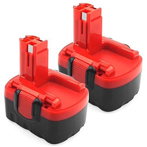 Preisvergleich Produktbild ADVNOVO 2 Pack 14.4V 3.5Ah Ni-MH Battery for Bosch 2607335275 2607335533 2607335534 2607335711 2607335465 2607335685 2607335678 2607335276 BAT038 BAT040 BAT041 BAT140 BAT159 13614 for Bosch Battery