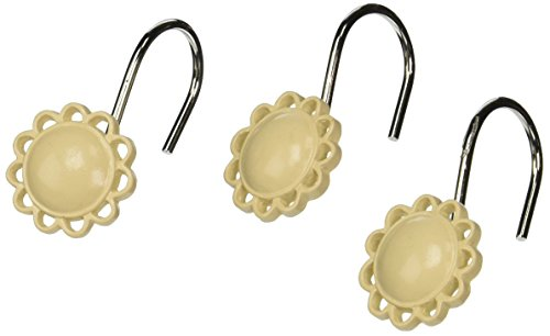 Carnation Home Fashions, Inc PHP-FIL/08 Filigree Resin Shower Curtain Hooks in Ivory