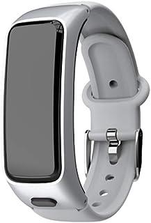 HBBOOI Presión Inteligente Pulsera Talk Banda rastreador de Ejercicios Sangre Monitor de frecuencia Cardiaca Auricular de Bluetooth for Auriculares Inteligentes Pulseras