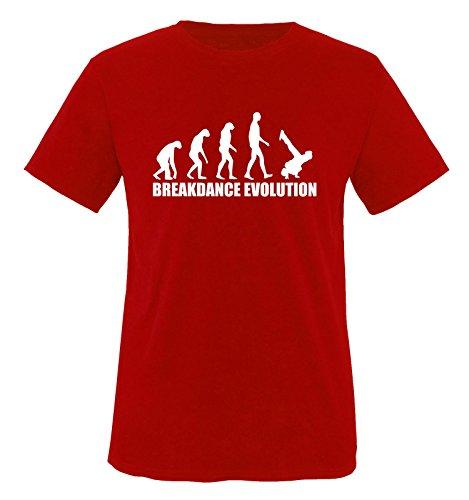T-shirt pour enfant avec motif et mots anglais Breakdance Evolution, tailles 86-92 à 152-164, différentes couleurs - Rouge - 12 ans