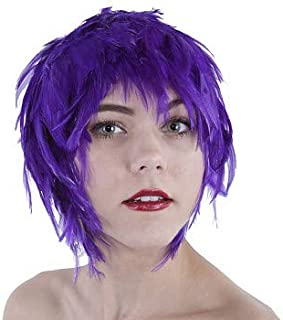 Colorful Crazy Party Wig - Natural Feather Halloween Cosplay Novelty Costume