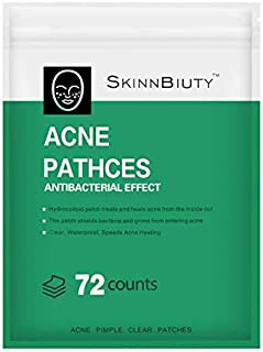 Acne Pimple Healing Patch - Absorbing Hydrocolloid Blemish Spot Skin Treatment,Facial Stickers(72 ROUND PATCHES)