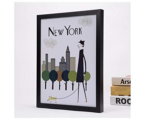 Straight A student hete romantische houten muur, hangend, groot, fotolijst 16 inch Zwart
