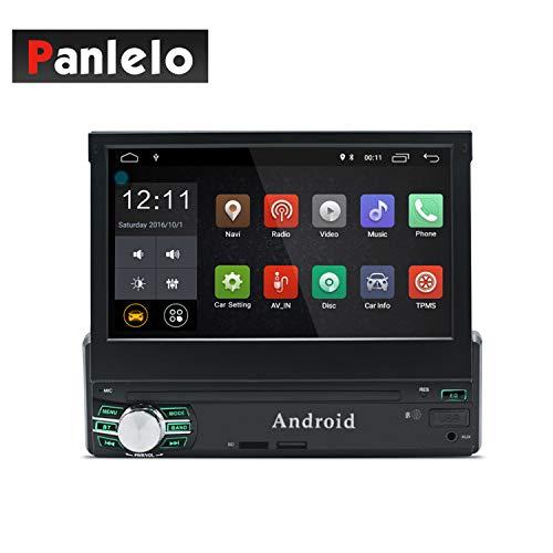 Panlelo T1 Plus Android 8.0 Estéreo para automóvil Navegación GPS 2GB RAM 1 DIN Auto Radio (Am/FM/RDS) HD 1024 600 Pantalla táctil capacitiva Llamada Manos Libres de BT Espejo de Enlace