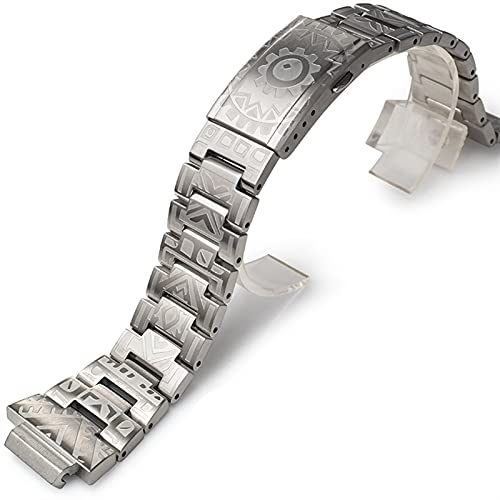 ZLRFCOK Accesorios de modificación para G-5600 DW-5600 GW-M5610 5035 5000 Metal Bezel y Banda 316 sin Cinta de Acero y Correa con Herramientas (Color : Silvery Band, Size : 5610)