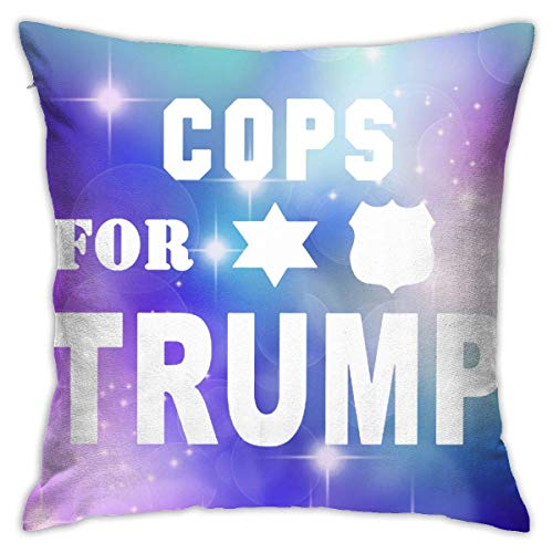 v-kook-v COPS for Trump Decorative Square Throw Pillow Covers Cushion Case Pillowcases 18 X 18 Inch