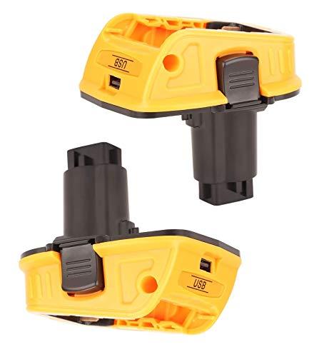 Adaptador de batería DeWalt de repuesto para DeWalt 18V-20V batería de litio DCA1820 DCB090 (con función USB Mobile Power)
