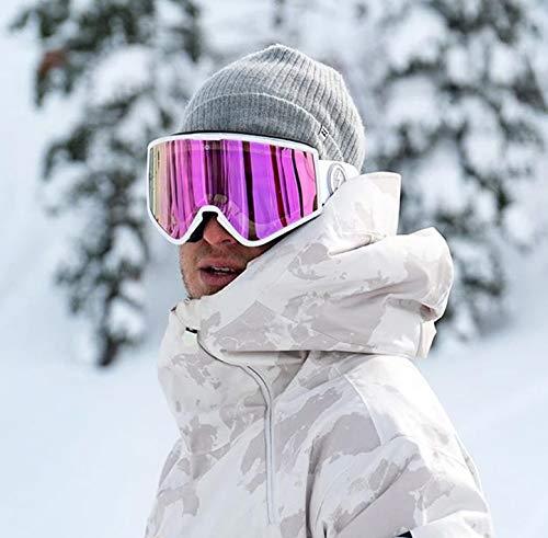 ELECTRIC【KLEVELAND】【MATTEWHITE:BROSE/PINKCHROME】正規アジアンフィットジャパンフィットエレクトリッククリーブランドスキースノボスノーボードゴーグルスノー紫外線カット