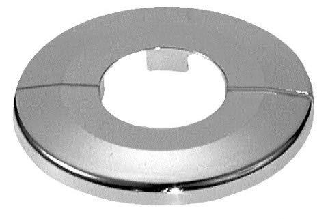 Einzel-Rosetten für Heizungsrohre, Außendurchmesser: 65mm, Heizung, 2 Stück, 10mm,12mm, 15mm, 16mm, 18mm, 22mm, 27mm, 34mm; ABS (22mm, verchromt)