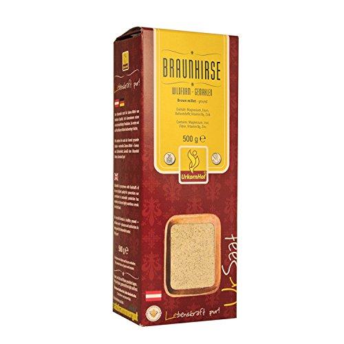 Braunhirse Wildform gemahlen von Urkornhof vegan, koscher / Braunhirsemehl 500g