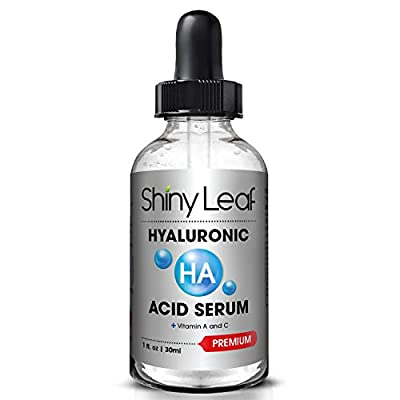 Hyaluronic Acid Serum for Face with Vitamin C and A, Anti-aging Formula, Brightens Your Skin, Minimizes Pores, For Healthy Skin Cell Renewal, Intense Moisture and Hydration, 1 fl. oz.