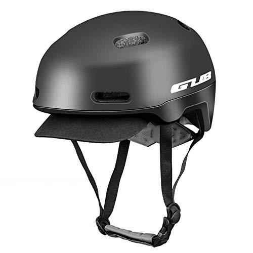 Urban Rennrad Mountainbike Helm Männer und Frauen Reitausrüstung Hut elektrische Waage Autohelm-L_Black L Code 54-62cm