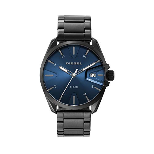 Diesel DZ1908 Reloj Diesel Caballero, Extensible Acero Gunmetal, Caratula Azul, Analogo for Accesorios, Gris, Hombre Estándar