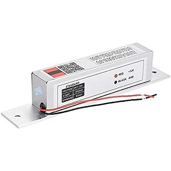 Serratura Magnetica Mini Serratura Magnetica Elettromagnetica 60KG Power On Lock Serratura DC24V Controllo Accessi Elettromagnetica Per La Porta In Vetro Di Metallo Metal