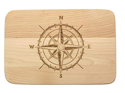 Spruchreif PREMIUM QUALITÄT 100{71fcabc9690b5237c5de286eff7d6c7d538499726ef795cd428e3eec5c57b67c} EMOTIONAL · Frühstücksbrettchen aus Holz · Brotzeitbrett · Holzbrett mit Gravur · Kompass Motiv · Segeln Geschenke · Maritime Geschenke · Segeln Geschenk