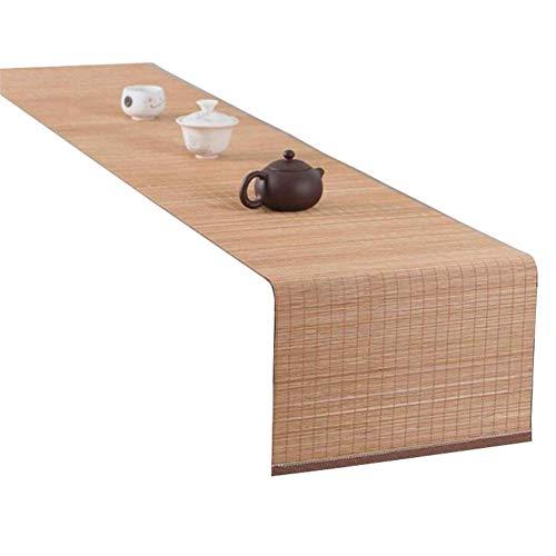 JLCP Handgemachte Bambus Tischläufer, Natürliche Tischdecke Dekorative Matten Für Hotel/Küche/Esszimmer/Party/Tagungsraum,rutschfeste, Hitzebeständige,Waschbar,2,40x150cm