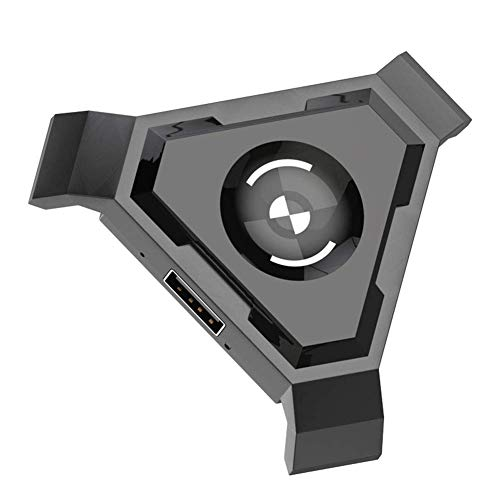 vap26 Gamepad Controlador Set PC Adaptador Móvil No Vibración Bluetooth 4.1 USB Videojuego Móvil Negro Convertidor ABS y Juego Teclado Ratón(P5) Show, p5