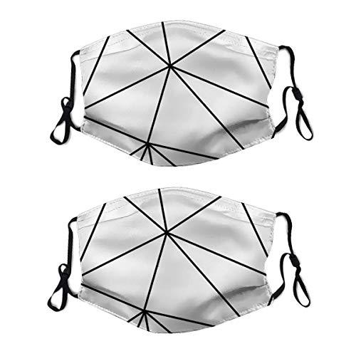 Zara Mono Geometrisch Weiß Schwarz Verstellbar Wiederverwendbar Gesicht M_ask Anti-Staub M_Asks Mundschal Gesichtsschutz für Outdoor 2 Stück