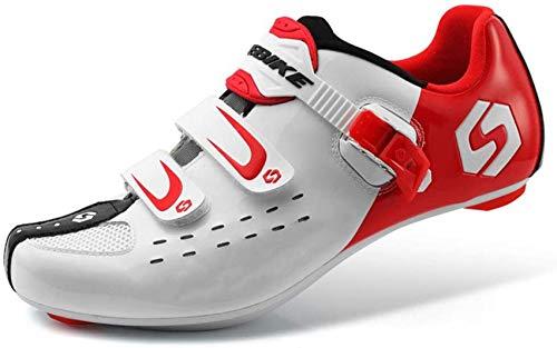 SACKDERTY Zapatillas de Ciclismo para Hombre y Mujer Pro Zapatillas de Bicicleta de Carretera Zapatillas de Ciclismo MTB Transpirables, B, 41 (8)