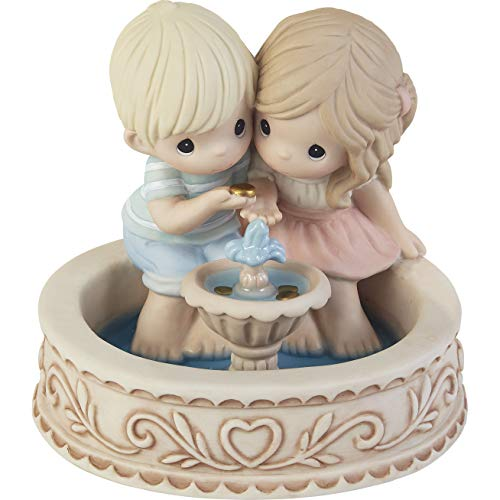 Precious Moments 203002 May All Our Wishes Come True Bisque Porcelain Figurine