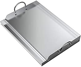 only fire Universal Stainless Steel Rectangular Griddle for Gas BBQ Grills, 23