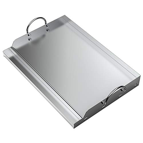 """only fire Universal Stainless Steel Rectangular Griddle for Gas BBQ Grills, 23"""" x 16"""""""