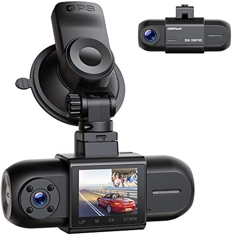 Dual 1080P Dash Cam w GPS Campark Front and Inside Car Camera w Infrared Night Vision 1 5 LCD product image