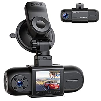 Dual 1080P Dash Cam w/GPS Campark Front and Inside Car Camera w/Infrared Night Vision 1.5  LCD Screen Wide Angle Dash Camera for Cars w/Parking Monitor G-Sensor Loop Recording Support 256GB Max
