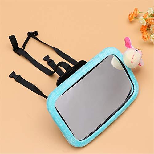 Zhengowen Espejo de Bebé para Coche Retrovisor Infantil MirrorCute Baby Asiento De Observación Espejo Espejo Retrovisor (Color : Azul, Size : 30x19x2.5cm)