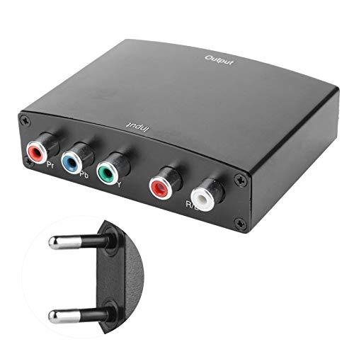Convertidor de Audio YPbPr + L/R Adaptador de Audio Vvideo Componente RGB, Convertidor YPbPr a HDMI Cable Adaptador RGB Portátil Transformador ABS 100 240V.(UE Pluy)
