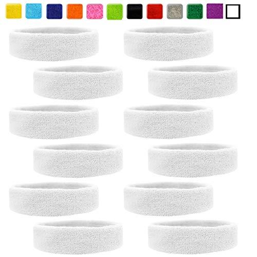 Kenz Laurenz Sweatbands Cotton Sports Headbands - Soft and Stretchy 2