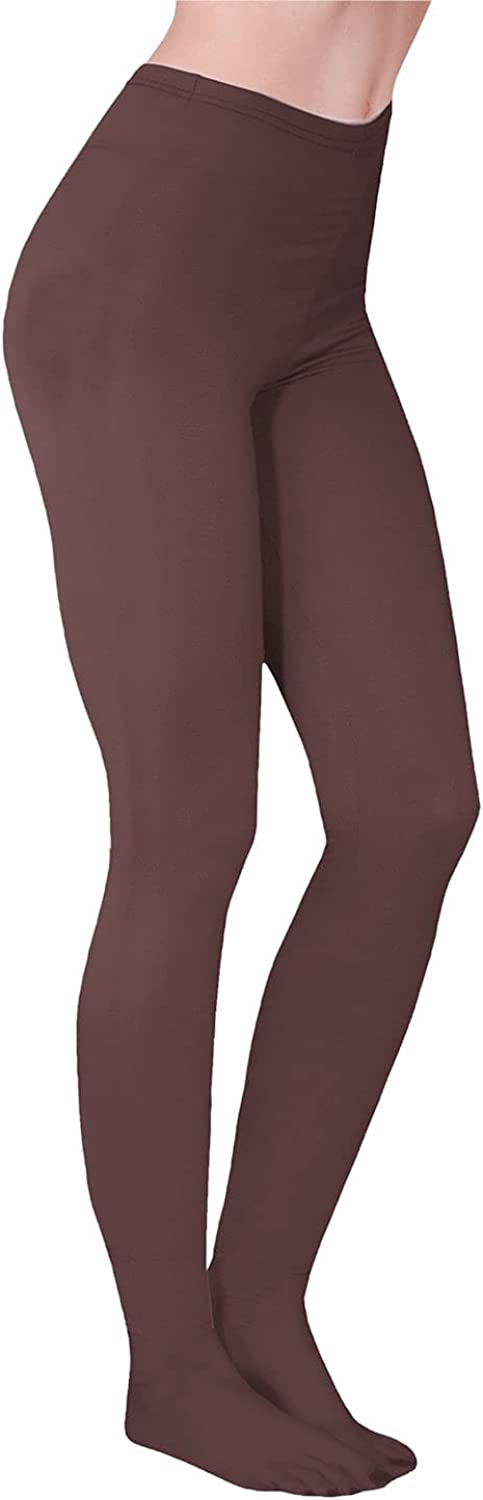 SUPPORT PLUS Womens Fleece Lined Tights - Solid Color, One Pair - Medium/Tall - Brown