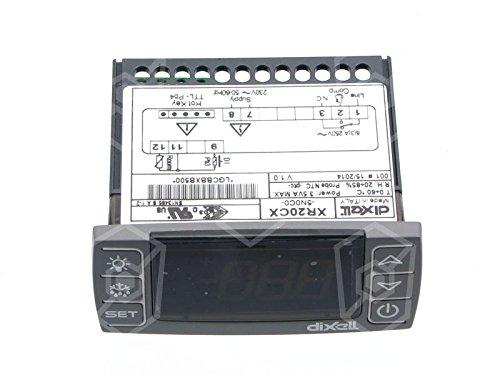 Dixell XR20CX-5N0C0 Elektronikregler für Kühltisch 230V AC für NTC/PTC -55 bis +150°C Abmaße 71x29mm Anzeige 3½-stellig DI 1