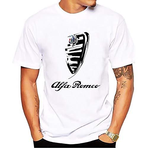 Italy National Treasures Alfa Romeo Cars t Shirt Men White Casual Breathable Plus Size Tee Shirt Homme Italian Style Tshirts