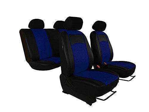 POK-TER-TUNING Universal Sitzbezüge Kunstleder Passend für Golf IV,V,VI .Design Kunstleder mit Dekorative Aufschrift Tuning. in Diesem Angebot Blau.
